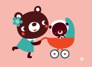 Postcard Baby Bear - BORA illustraties