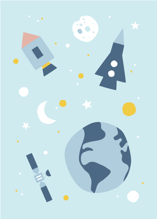 ansichtkaart ruimte - Hikje