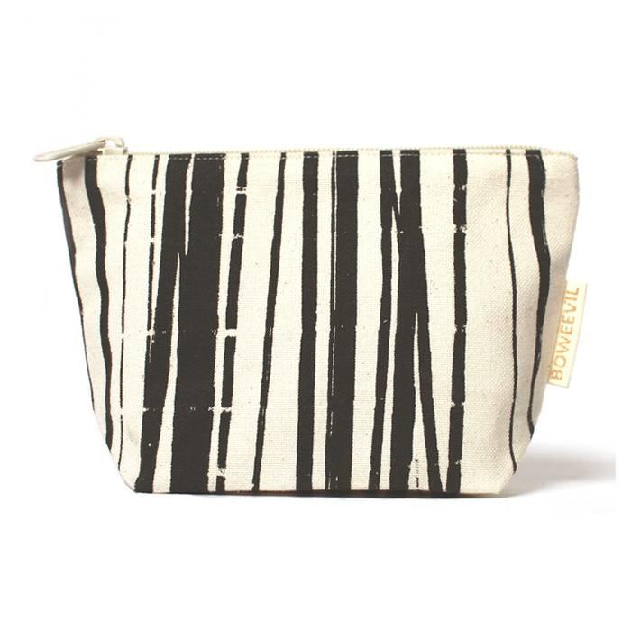 Make-up tasje van biokatoen Wrapping Stripes 18 x 12cm