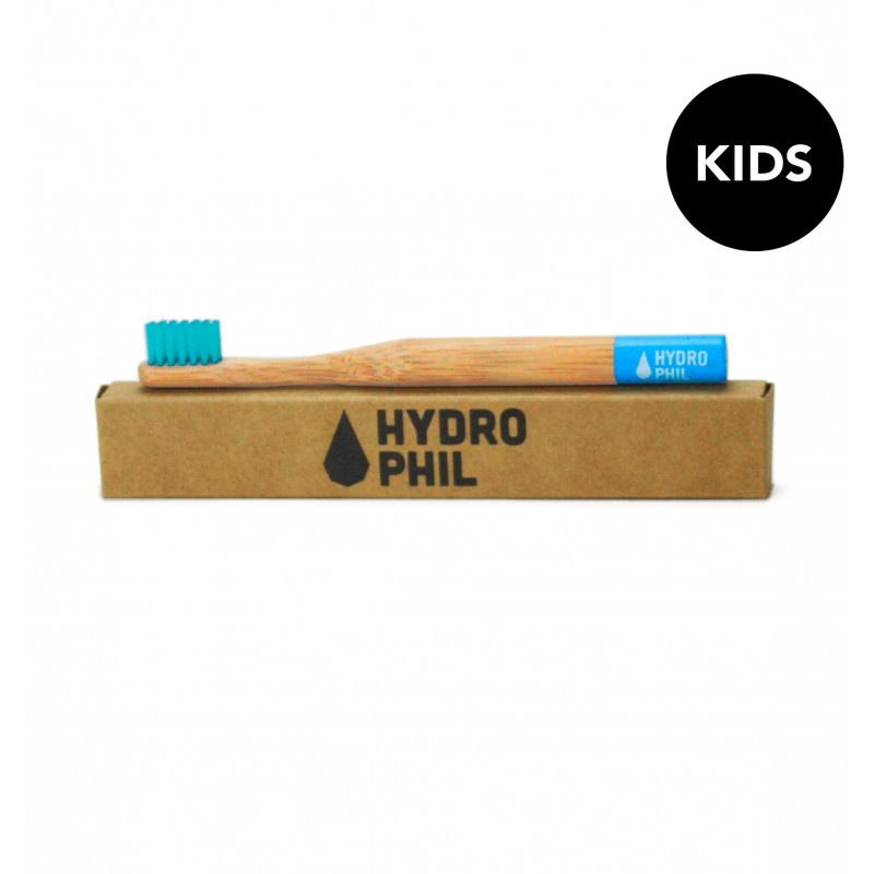 Hydrophil bamboe kindertandenborstel blauw extra soft