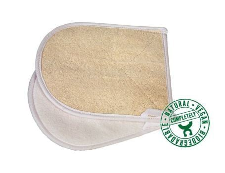 Massagehandschoen van loofah grof en fijn - Croll en Denecke