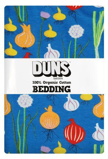 Eenpersoons dekbedovertrekset Garlic chives and onions blue DUNS Sweden - 150x200cm