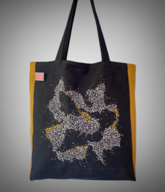 Tote bag jeans white spots