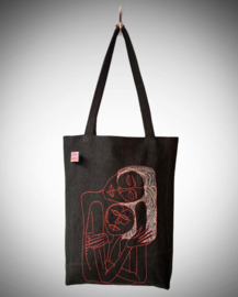 Tote bag Jeans mom-child