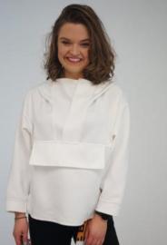 Sweatshirt wit met capuchon