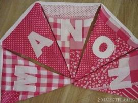 Manon patchwork roze stof.