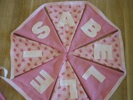 Isabelle, pip roosjes en roze ruitje