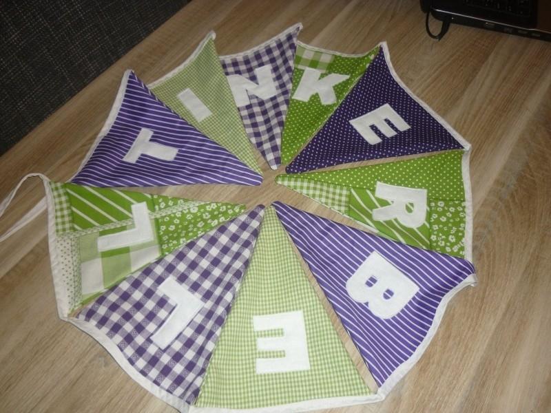 Tinkerbell paars met lime groen.