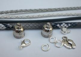 Sieradenpakket zelfmaak armband grijs zwart wit 02