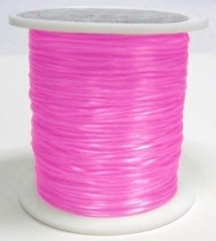 nylon elastiek 0.6mm 5meter roze