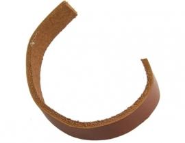 Leer plat 10 x 2.5mm bruin of donkerbruin