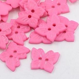 Knoop vlinder roze