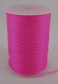 Organza lint 6mm roze/fuchsia