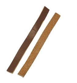 Leer plat bruin 6 x 2mm