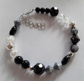 Sieraden maken armband  zwart zilver of kant en klaar