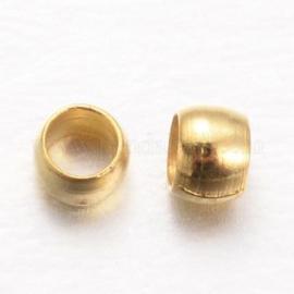 knijpkralen 2.5mm goudkleurig