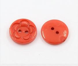 Knoop rood 16mm