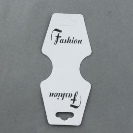 10  Sieraden Displays Kaarten wit voor armbanden of kettingen