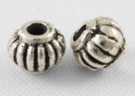 Tibetaans zilver tussenkralen 5x4mm PY0 Aantal 20