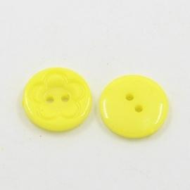 Knoop geel 16mm