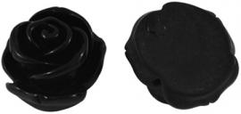 Roosje 23x13mm zwart