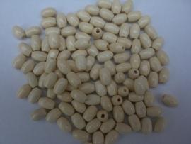 Houten kralen beige 8x5mm Aantal 100
