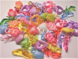 50 Bedels hartjes bloem schoentjes