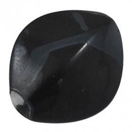 Kralen zwart 17x13.5 aantal 25