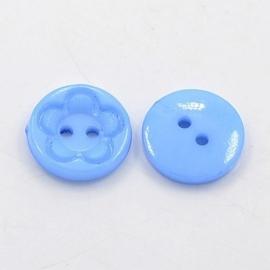Knoop blauw 15mm