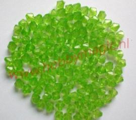 Facetkralen konisch  4mm groen aantal 100