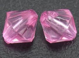 Facetkralen konisch roze 4mm aantal 100
