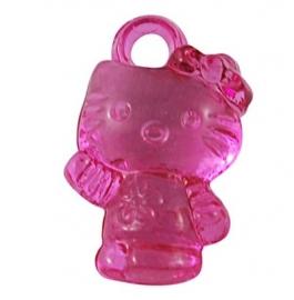 10 Bedels Hello kitty donker roze