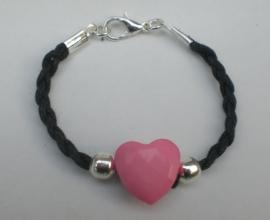 Armband met hart in veel kleuren