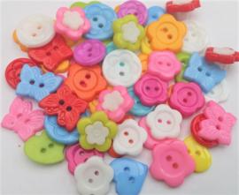 100 knopen gekleurde mix