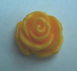 Roosje 23x13mm geel