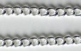 Schakelketting 5.8x4.2 lichtzilver 50 cm