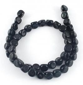 Glaskralen zwart 7mm aantal 10