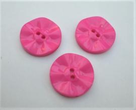 Knoop roze fuchsia 20mm