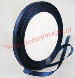 Satijnlint 6mm  donkerblauw