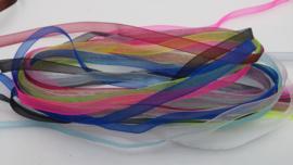 10 meter organzalint in 10 verschillende kleuren