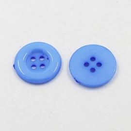 Knoop rond blauw 12mm