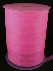Organza lint 6mm roze