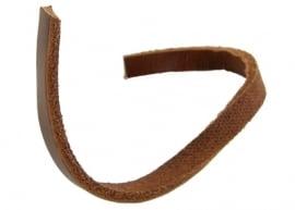 Leer plat bruin 6 x 2.5mm