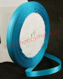 Satijnlint 6mm turquoise