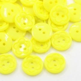 Knoop geel 15mm