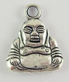 Tibetaans zilveren boeddha bedel 04