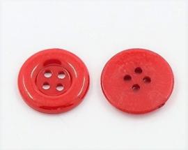 Knoop rood 18mm