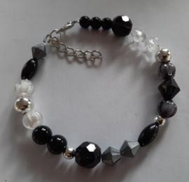 Sieraden maken armband  zwart zilver