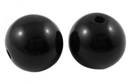 Kralen zwart 6mm rond aantal 100