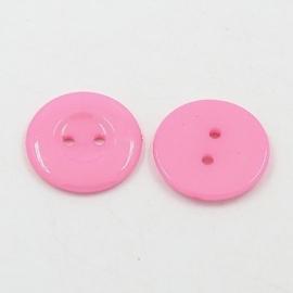 Knoop  roze 18mm